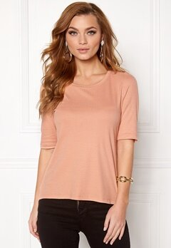 VERO MODA Iris Rib Top Dusty Coral Bubbleroom.se