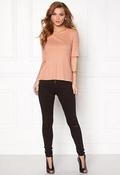 VERO MODA Iris Rib Top Dusty Coral Bubbleroom.fi