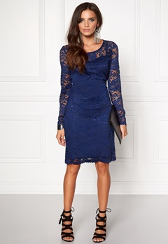 VERO MODA Joy Janet LS Dress Medieval Blue Bubbleroom.fi