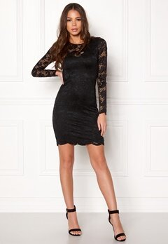 VERO MODA Joy L/S Short Dress Black Bubbleroom.se
