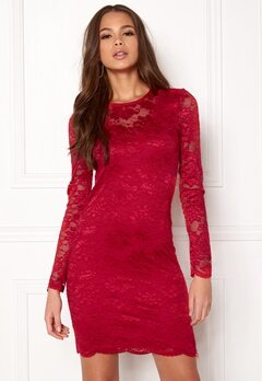 VERO MODA Joy L/S Short Dress Lychee Bubbleroom.se