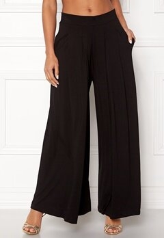 VERO MODA Jrape Long Wide Pants Black Bubbleroom.se