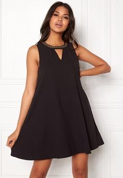 VERO MODA June Bead SL Short Dress Black Bubbleroom.se