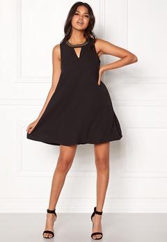VERO MODA June Bead SL Short Dress Black Bubbleroom.fi