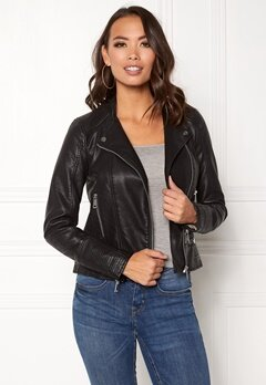 VERO MODA Kerri Short PU Jacket Black Bubbleroom.fi