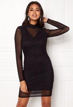VERO MODA Kira LS Mesh Short Dress Black Bubbleroom.se