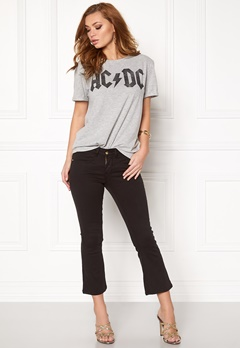 VERO MODA Kiss s/s T-shirt Light Grey Melange Bubbleroom.se