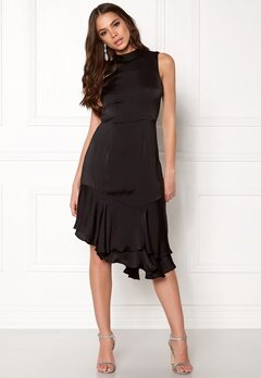 VERO MODA Kylie SL Frill Knee Dress Black Bubbleroom.se