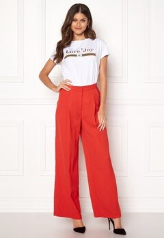 VERO MODA Lanjuli HW Wide Pants Poppy Red Bubbleroom.se