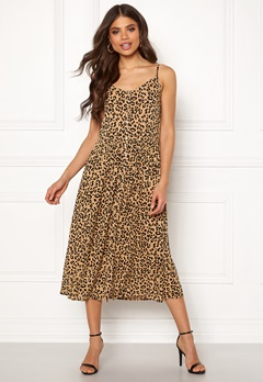 VERO MODA Lea S/L Midi Dress Tigers Eye Bubbleroom.se