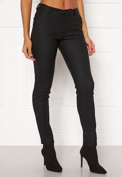 VERO MODA Leah MR Classic Coated Pant COLOR Black Bubbleroom.se