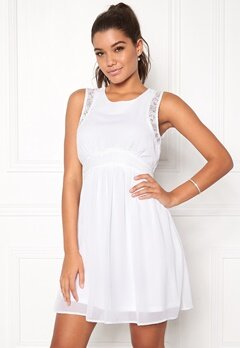 VERO MODA Lena s/l Short Dress Bright White Bubbleroom.se