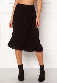 VERO MODA Leo N/W Wrap Skirt Black Bubbleroom.se