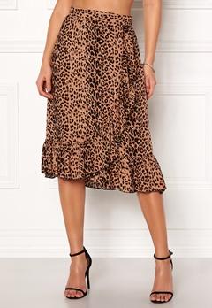 VERO MODA Leo N/W Wrap Skirt Snow White / Leopard Bubbleroom.se