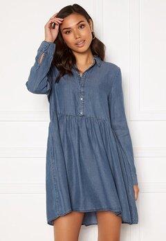 VERO MODA Libbie LS Shirt Dress Medium Blue Denim Bubbleroom.se