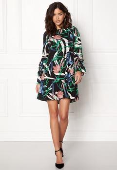 VERO MODA Lihn LS Short Dress Night Sky Bubbleroom.fi