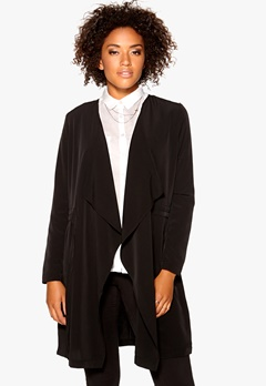 VERO MODA List Drape Blazer Black Bubbleroom.no