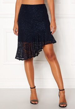 VERO MODA Lizz HW BLK Skirt Night Sky Bubbleroom.se