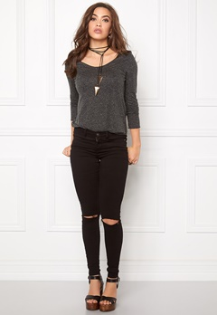 VERO MODA Lua LS Top Black Bubbleroom.fi