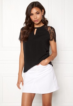 VERO MODA Lucca Lace Top Black Bubbleroom.se