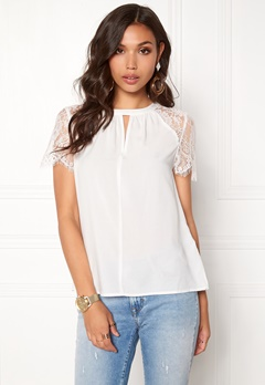 VERO MODA Lucca Lace Top Snow White Bubbleroom.se