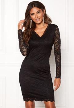 VERO MODA Lucia LS Short Dress Boo Black Bubbleroom.se