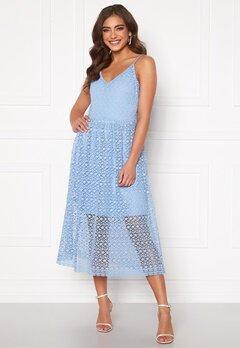VERO MODA Madeleine Calf Lace Dress Placid Blue Bubbleroom.se