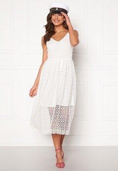 VERO MODA Madeleine Calf Lace Dress Snow White Bubbleroom.se