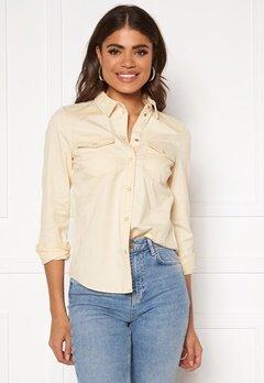 VERO MODA Maria LS Slim Shirt Birch Bubbleroom.se