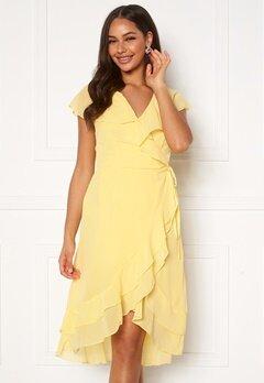VERO MODA Maya Wrap Frill Dress Banana Cream Bubbleroom.se
