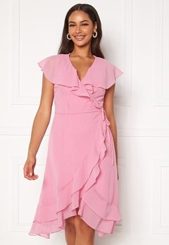 VERO MODA Maya Wrap Frill Dress Rosebloom Bubbleroom.se
