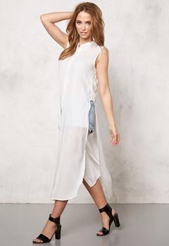 VERO MODA Meshy ankle shirt dress Snow White Bubbleroom.eu