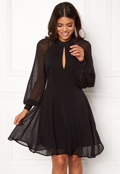 VERO MODA Mila L/S Short Dress Black Bubbleroom.se