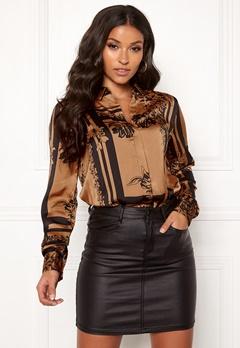 VERO MODA Mimi ls Shirt Tobacco Brown Bubbleroom.se
