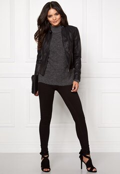 VERO MODA Mira Short Pu Jacket Black Bubbleroom.fi