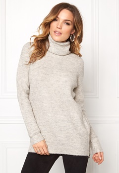 VERO MODA Miriam Rollneck Light Grey Melange Bubbleroom.fi
