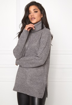 VERO MODA Miriam Rollneck Medium Grey Melange Bubbleroom.fi