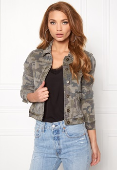 VERO MODA Mora ls Denim Jacket Ivy Green Bubbleroom.no