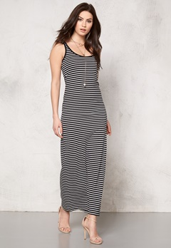 VERO MODA Nanna Ancle Dress Black/White Stripe Bubbleroom.no
