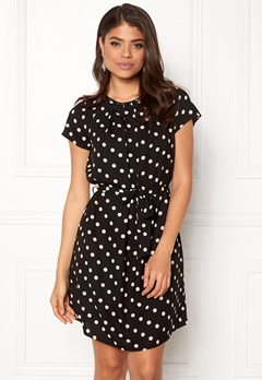 VERO MODA Nelli S/S Short Dress Black White dots Bubbleroom.fi