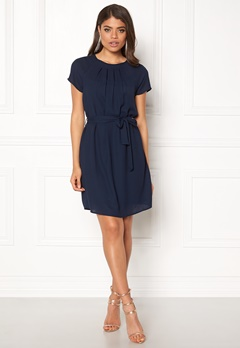 VERO MODA Nelli S/S Short Dress Navy Bubbleroom.fi