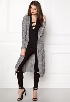 VERO MODA NIlle ls Long Open Knit Black Beauty Bubbleroom.eu