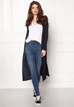 VERO MODA NIlle ls Long Open Knit Navy Blazer Bubbleroom.fi