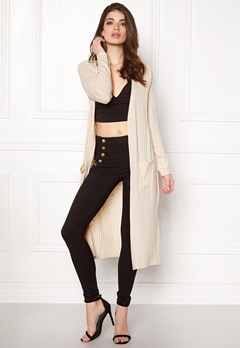 VERO MODA NIlle ls Long Open Knit Oatmeal Bubbleroom.fi