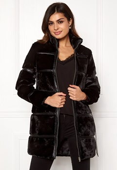 VERO MODA Ninja 3/4 Faux Fur Jacket Black Bubbleroom.se