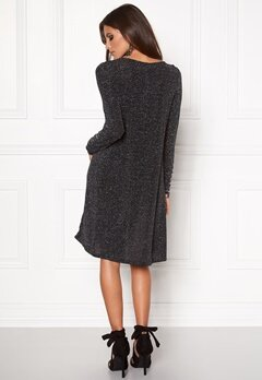 VERO MODA Nolia Shimmer l/s Dress Black Bubbleroom.fi