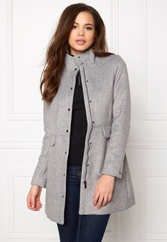 VERO MODA One Dope 3/4 Jacket Light Grey Melange Bubbleroom.fi
