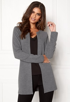 VERO MODA Paris LS Cardigan Medium Grey Melange Bubbleroom.se