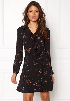 VERO MODA Parisan Short Wrap Dress Black Bubbleroom.se