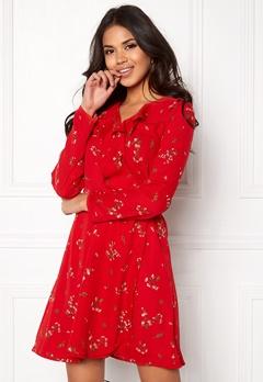 VERO MODA Parisan Short Wrap Dress Lychee Bubbleroom.fi